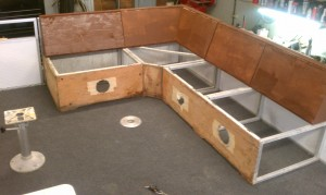 New seatboxes with Marine Plywood